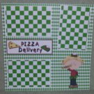 """Pizza Delivery Girl""-Premade Scrapbook Page 12x12"
