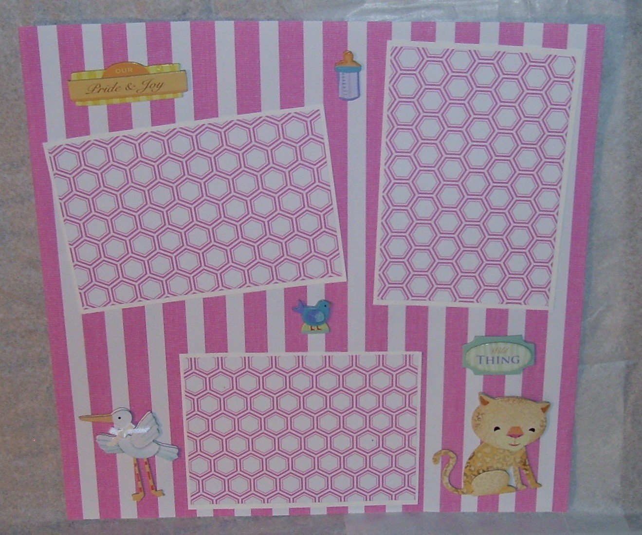 """""""Pride and Joy Girl s""""-Premade Scrapbook Page 12x12"""
