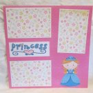 """Princess""-Premade Scrapbook Page 12x12"