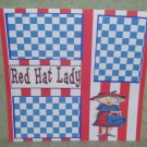 """Red Hat Lady""-Premade Scrapbook Page 12x12"