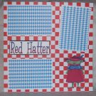 """Red Hatters""-Premade Scrapbook Page 12x12"