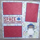 """Space Exploration Girl""-Premade Scrapbook Page 12x12"