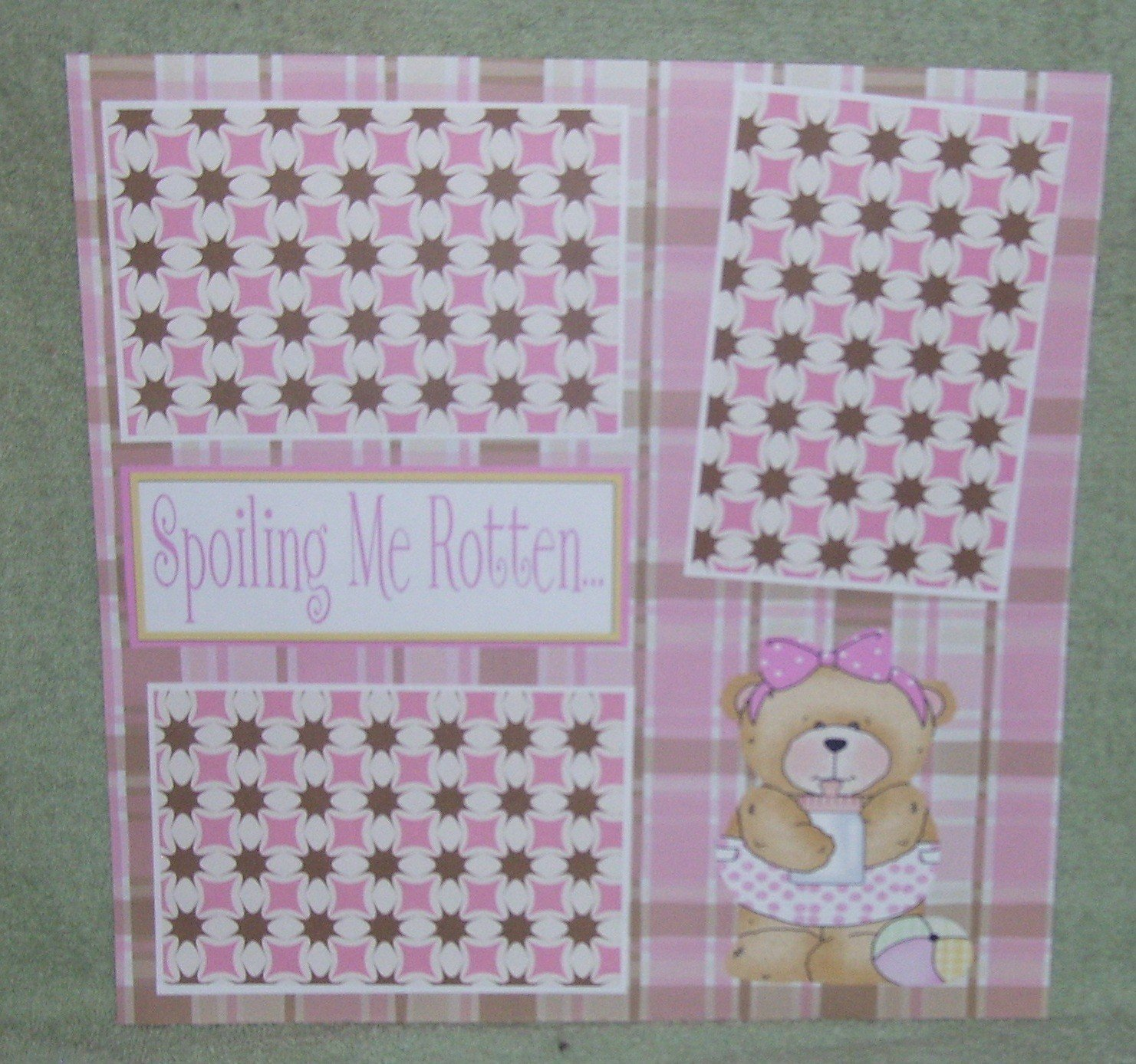"""Spoiling Me Rotten Girl cs""-Premade Scrapbook Page 12x12"