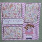 """Sugar and Spice""-Premade Scrapbook Page 12x12"