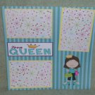 """Teen Queen""-Premade Scrapbook Page 12x12"
