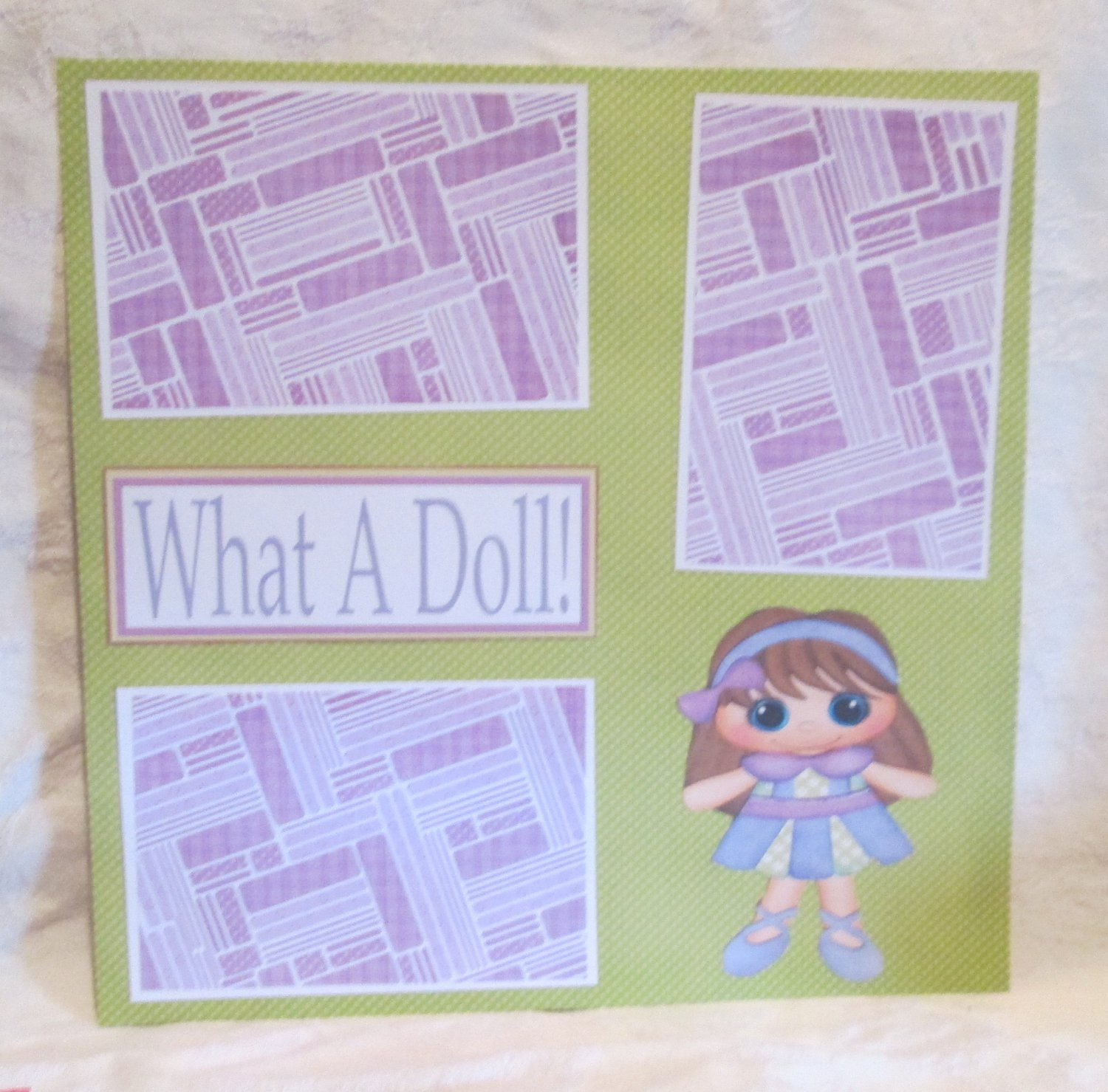 """""""What A Doll""""-Premade Scrapbook Page 12x12"""