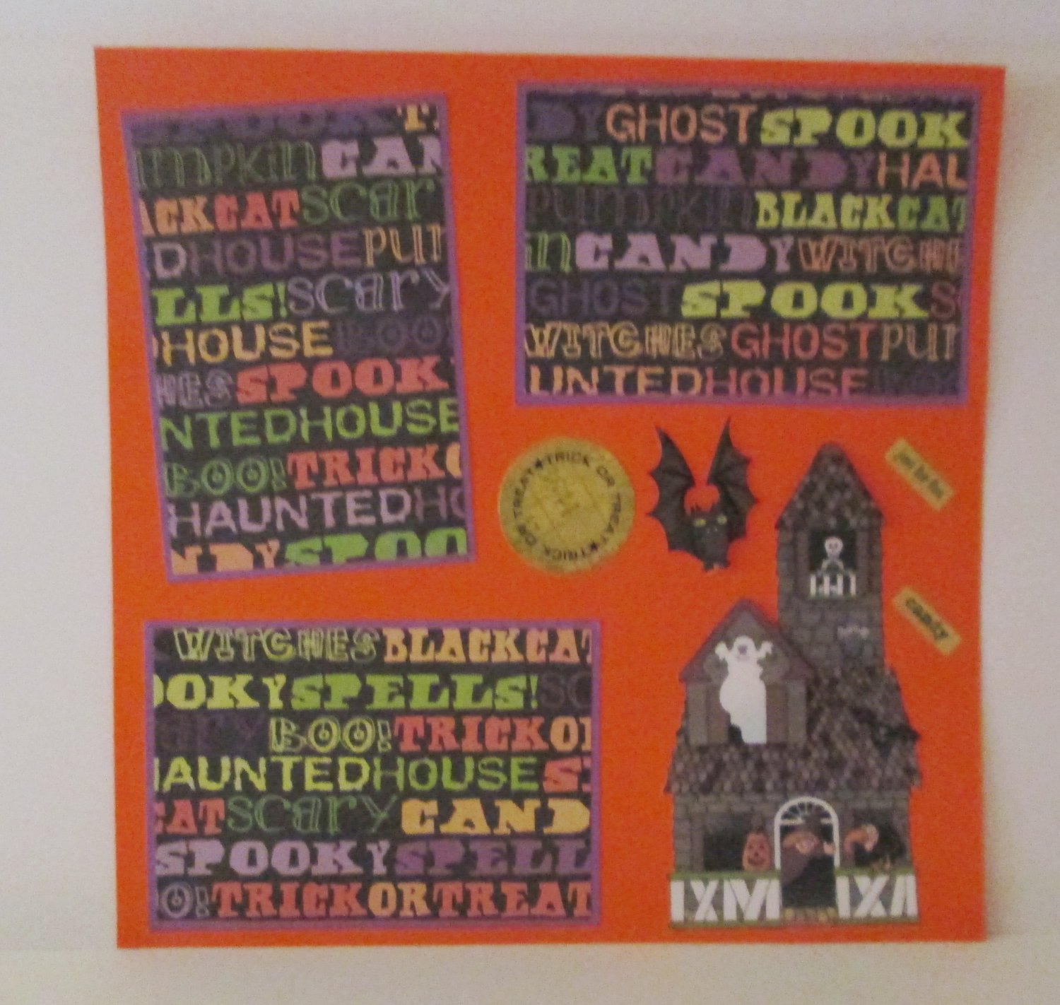 """Haunted House s1""-Premade Scrapbook Page 12x12"