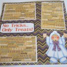 """No Tricks Only Treats Ghost""-Premade Scrapbook Page 12x12"