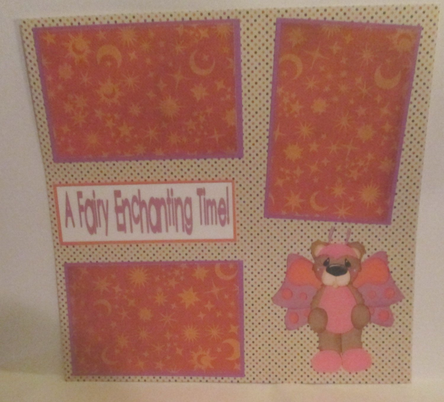 """A Fairy Enchanting Time""-Premade Scrapbook Page 12x12"