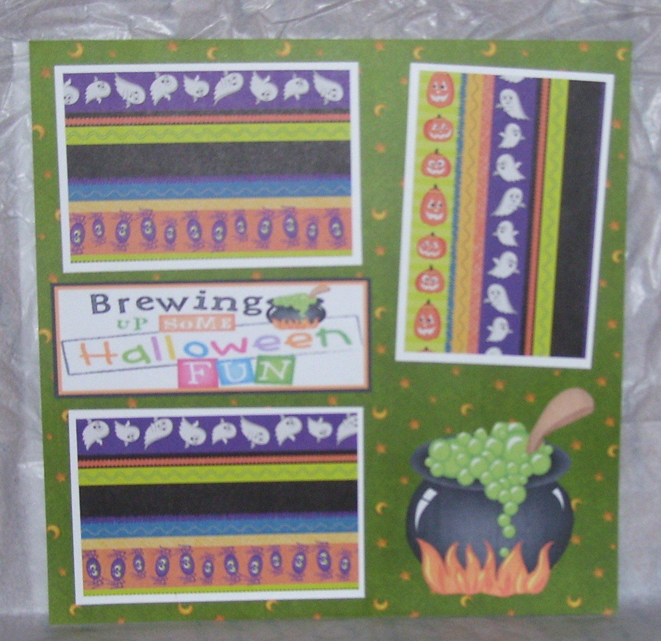 """""""Brewing Up Some Halloween Fun nw""""-Premade Scrapbook Page 12x12"""