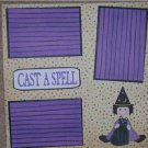 """""""Cast A Spell""""-Premade Scrapbook Page 12x12"""