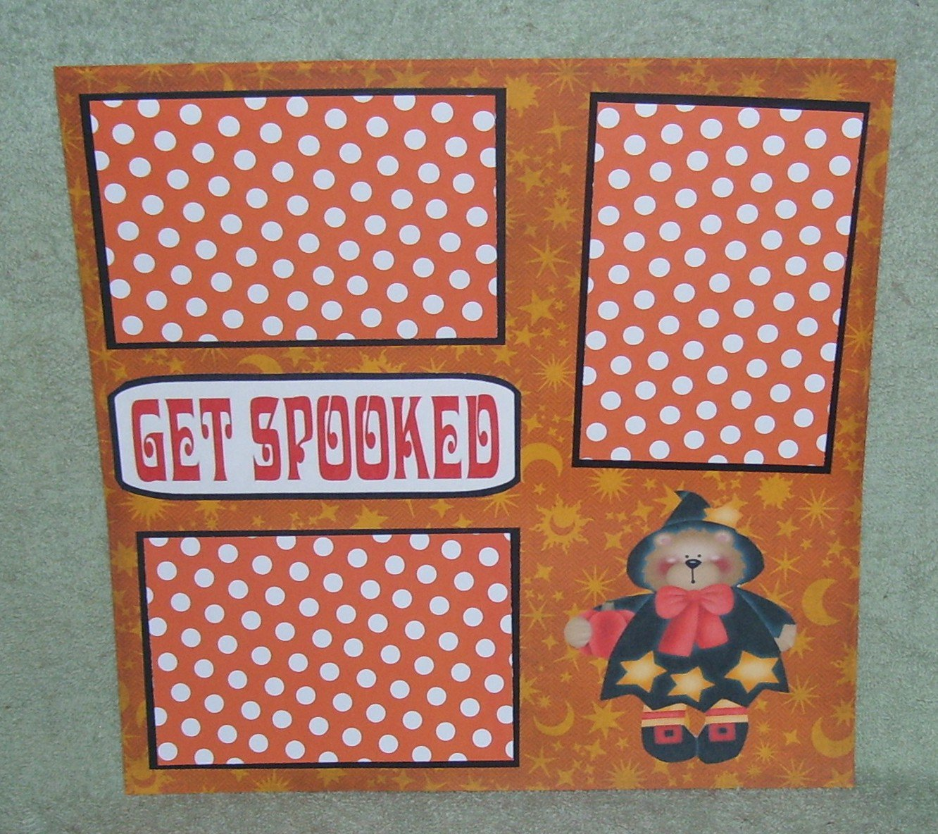 """""""Get Spooked a""""-Premade Scrapbook Page 12x12"""