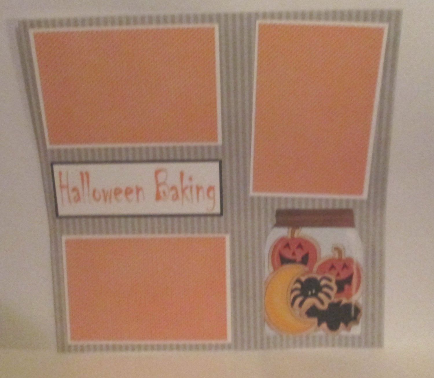 """Halloween Baking Cookie Jar""-Premade Scrapbook Page 12x12"