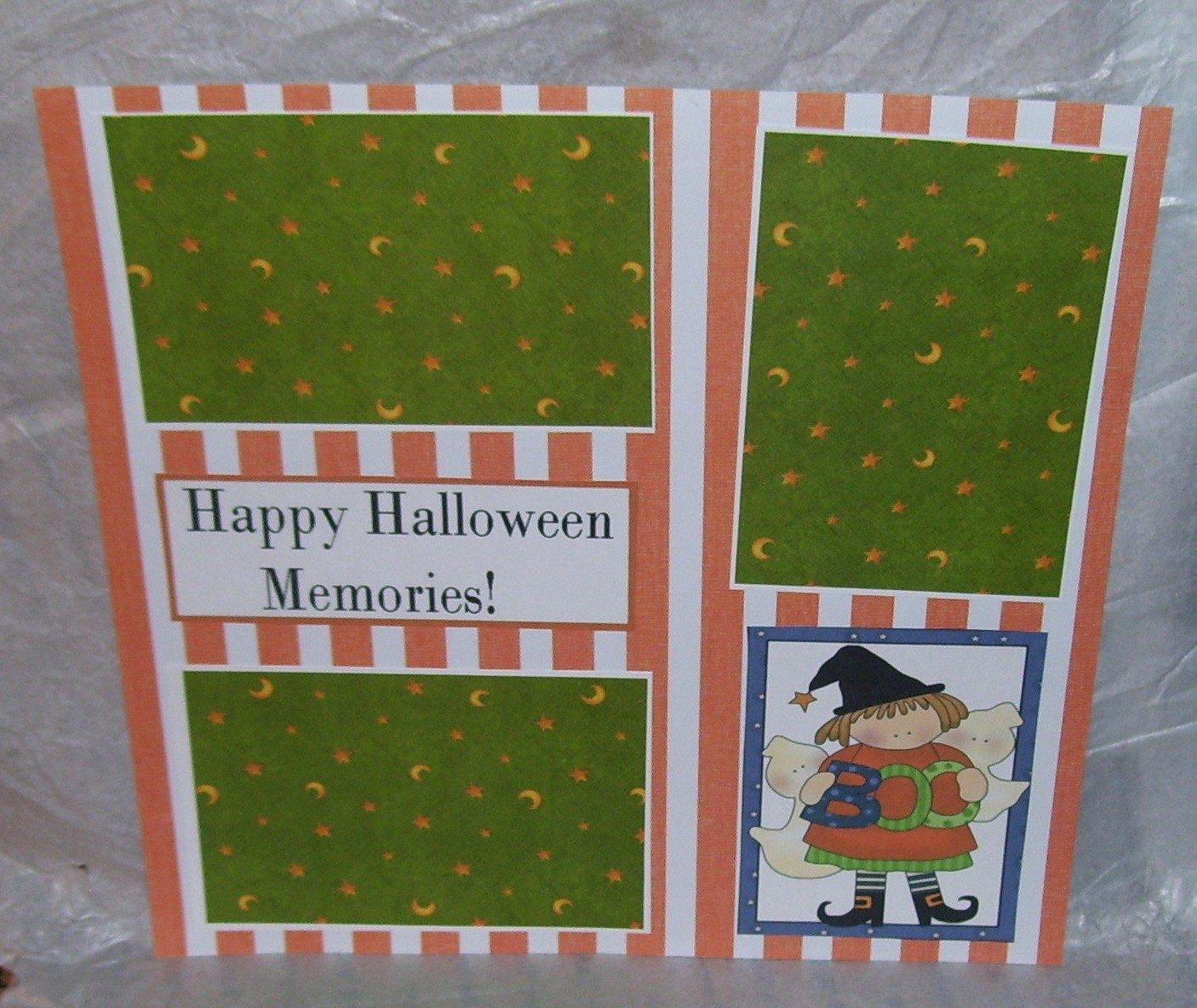 """""""Happy Halloween Memories""""-Premade Scrapbook Page 12x12"""