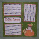 """My Little Pumpkin Boy Trick or Treat""-Premade Scrapbook Page 12x12"