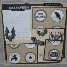 """Spooky Halloween Costume""-Premade Scrapbook Page 12x12"