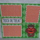 """Trick or Treat Bear""-Premade Scrapbook Page 12x12"