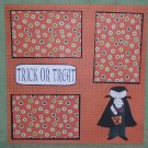"""Trick or Treat Dracula""-Premade Scrapbook Page 12x12"