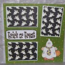 """Trick or Treat Ghost""-Premade Scrapbook Page 12x12"