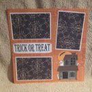 """Trick or Treat Haunted House""-Premade Scrapbook Page 12x12"