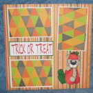 """Trick or Treat Pumpkin Bear""-Premade Scrapbook Page 12x12"
