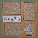 """Bingo Girl 2""-Premade Scrapbook Page 12x12"