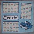 """Cruisin""-Premade Scrapbook Page 12x12"