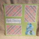 """Rock Climbing""-Premade Scrapbook Page 12x12"