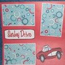 """Sunday Drive""-Premade Scrapbook Page 12x12"