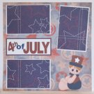 """4th of July Boy a""-Premade Scrapbook Page 12x12"
