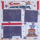 """God Bless America Boy bl""-Premade Scrapbook Page 12x12"