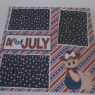 """4th of July Girl a""-Premade Scrapbook Page 12x12"