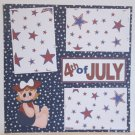 """""""4th of July Girl""""-Premade Scrapbook Page 12x12"""
