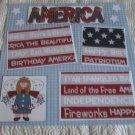 """America Girl bl""-Premade Scrapbook Page 12x12"