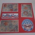 """Celebrate Circle""-Premade Scrapbook Page 12x12"