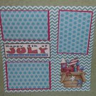 """Happy 4th of July Basket""-Premade Scrapbook Page 12x12"