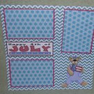 """""""Happy 4th of July Bear""""-Premade Scrapbook Page 12x12"""