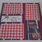 """""""Happy Fourth of July Bear a""""-Premade Scrapbook Page 12x12"""
