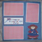 """Happy Fourth of July Girl""-Premade Scrapbook Page 12x12"