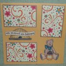 """""""As Sweet As Honey""""-Premade Scrapbook Page 12x12"""