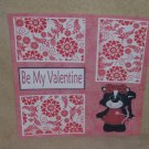 """Be Mine Valentine Skunk""-Premade Scrapbook Page 12x12"