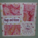 """Hugs and Kisses bears""-Premade Scrapbook Page 12x12"