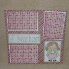 """""""Lil Sweetheart bl""""-Premade Scrapbook Page 12x12"""