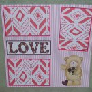 """Love Boy cs""-Premade Scrapbook Page 12x12"