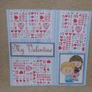"""My Valentine 1 bl""-Premade Scrapbook Page 12x12"