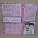 """My Valentine 2 bl""-Premade Scrapbook Page 12x12"