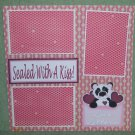 """Sealed with a Kiss""-Premade Scrapbook Page 12x12"