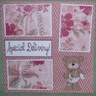 """""""Special Delivery kw""""-Premade Scrapbook Page 12x12"""