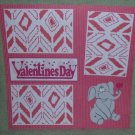 """Valentine's Day Elephant""-Premade Scrapbook Page 12x12"