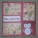 """Whoo Loves You tc""-Premade Scrapbook Page 12x12"